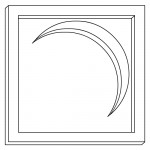 Moon Stone Crescent LDS Clip Art