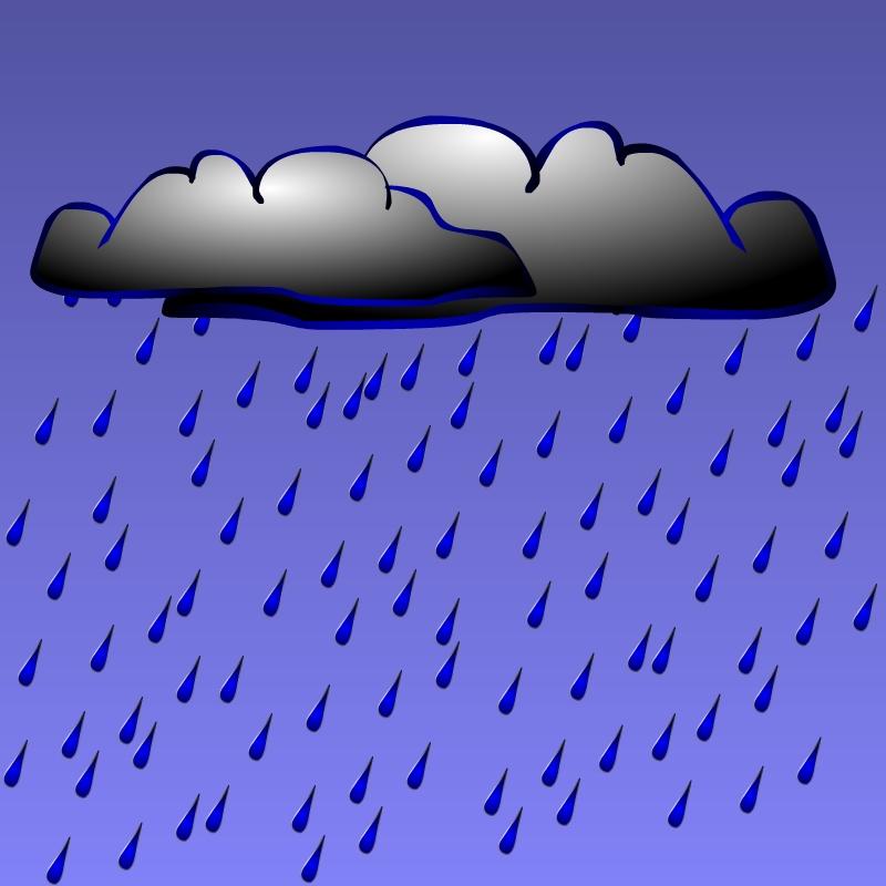 Clip Art Rain Cloud. General Clip Art